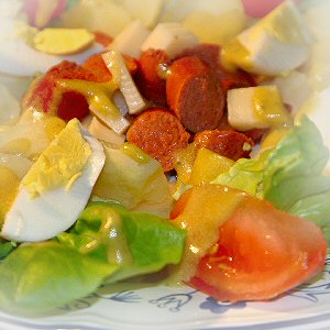 salade alsacienne alsatian salad cheese tongue and vegetable salad ...