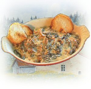 Franche-Comte specialty cuisine, Croutons with Morel Mushroom recipe