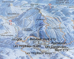 Metabief 6 village resort ski map