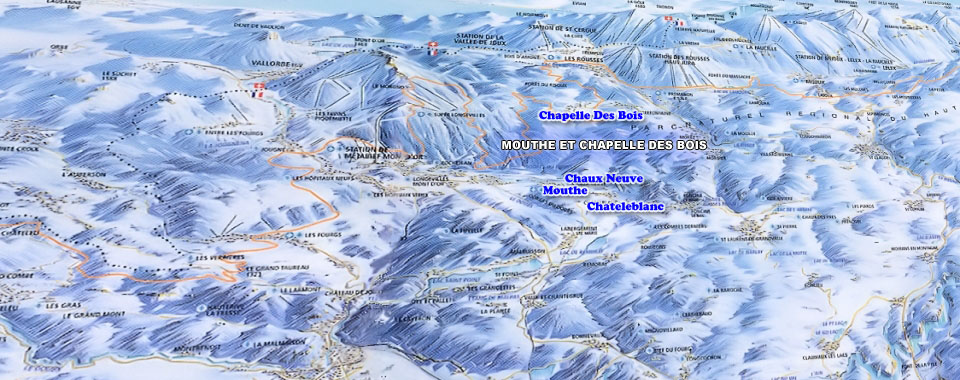 Carte Interactive Ski Plan Des Domaines Skiables Montagnes Du Jura